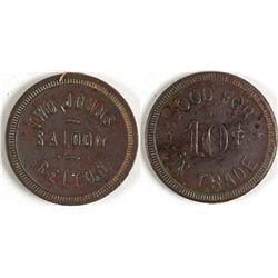 Two Johns Saloon Token (Belton, Texas)