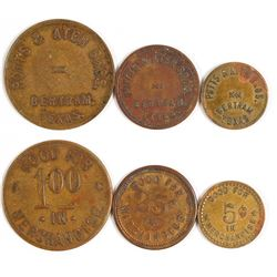 Potts & Ater Bros. Tokens (Bertram, Texas)