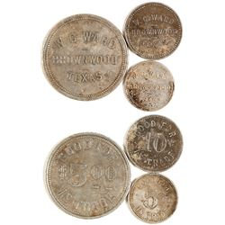 W. G. Ward Tokens (Brownwood, Texas)