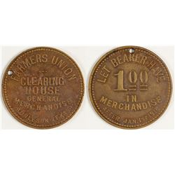 Farmer's Union Token (Burleson, Texas)