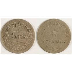 N. Williams & Co., Brunswick, Token (Canadian, Texas)