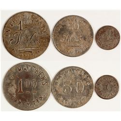 W. A. Matthews Tokens (Caney, Texas)
