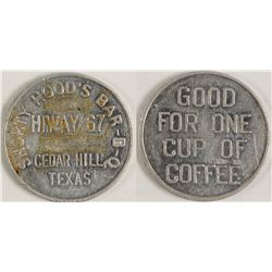 Shorty Hood's Bar B-Q Token (Cedar Hill, Texas)