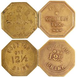 S. & . B. (Slutter & Brunon) Tokens (Columbus, Texas)