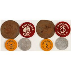 Four Different Corpus Christi, Texas Tokens
