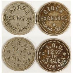 Wm. Vehlinger, Stock Exchange Tokens (Corpus Christi, Texas)