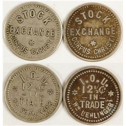 Wm. Vehlinger, Stock Exchange Tokens (Corpus Christi, Texas)