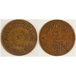 J. A. Landrum & Co. Token (Cotulla, Texas)