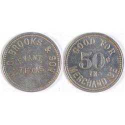 W. C. Brooks & Son Token (Evant, Texas)