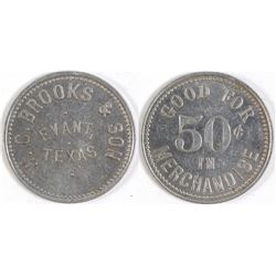 W. C. Brooks & Son Token (Evant, Texas)