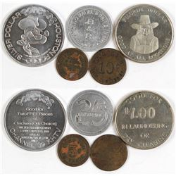 Five Assorted Houston, Texas Tokens