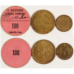 Three Huntsville, Texas Lumber related Tokens