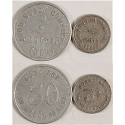 John Busch Company Tokens (Hutto, Texas)