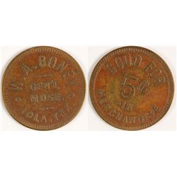 WA Boney Token (Iola, Texas)