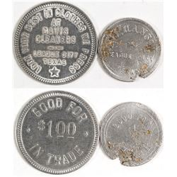 Two League City, Texas Tokens