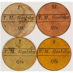 T. M. Goolsby Tokens (Lindale, Texas)
