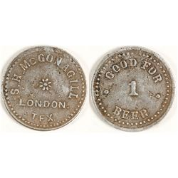 S. H. McGonagill Token (London, Texas)