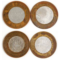 Two Encased Lufkin, Texas Tokens: Lufkin Land & Lumber Co. and Martin Wagon Co.