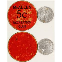 Two McAllen Tokens (McAllen, Texas)