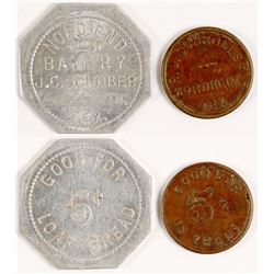 Nord End Bakery, R. J. Schroller Tokens (Nord End and Nordheim, TX)