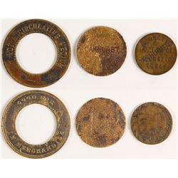 Palmetto Lumber Co. Tokens (Palmetto, Texas)