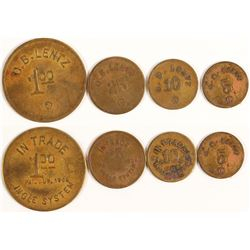 O. B. Lentz Tokens (Red Rock, Texas)