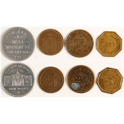 Four Different San Antonio, Texas Tokens