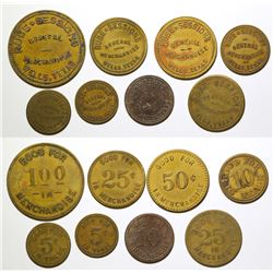 Rube Sessions Tokens (Wells, Texas)