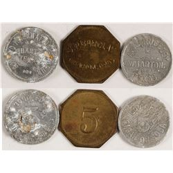 Three Wharton, Texas Tokens