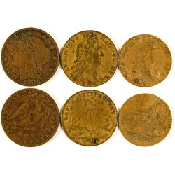 Tokens: Other Benjamin Franklin 1706-1790 Souvenir Penny Token Memorial Copper 18mm High Quality Materials