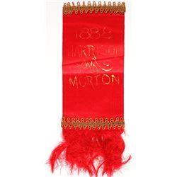 Harrison/ Morton Campaign Ribbon