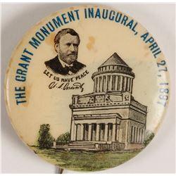 Grant Monument Memorial Button