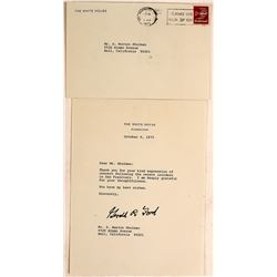 President Gerald Ford Signed Letter on White House Stationery