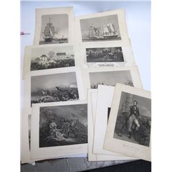 Group of Revolutionary War Engravings Prints