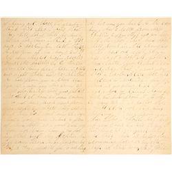 Civil War Letter from Queens Street Hospital
