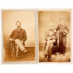 CDV Photo's of Union Civil War Soldiers (2)