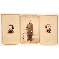 Civil War Soldier CDV's (3)