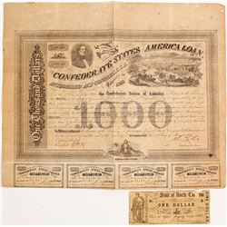 Confederate $1000 Bond