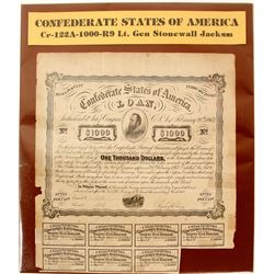 Confederate States Bond CR122a