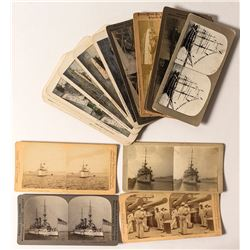 Early Battleship & Naval Stereoviews