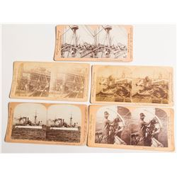 Battleship Maine Wreck & Salvage Stereoview Collection