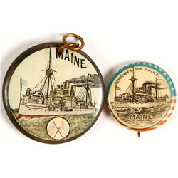 Sinking of the Maine Buttons (2)