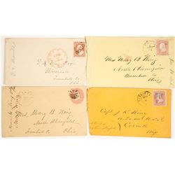 4 Postal Covers and Letter From Capt. JK Wing