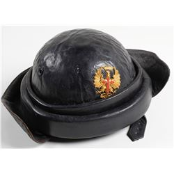 German Hard Leather Helmet