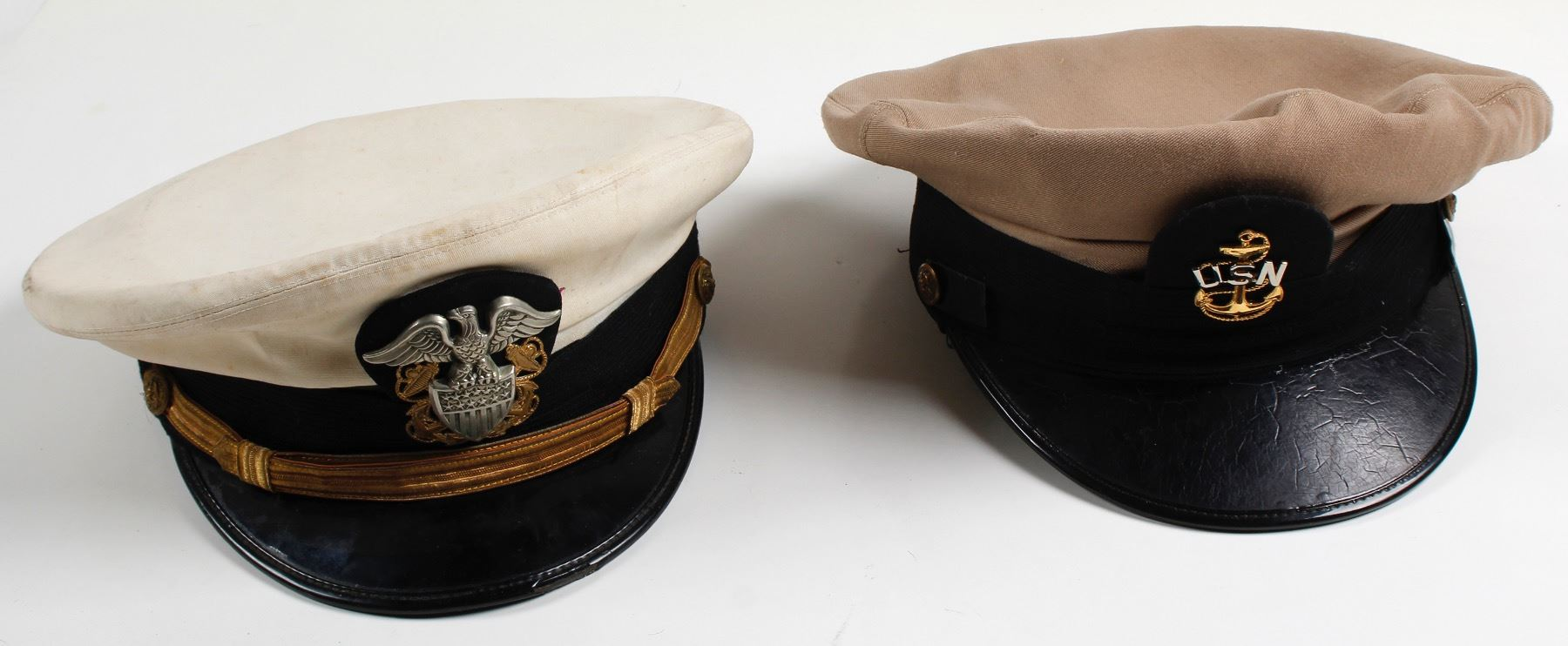 Two US Navy Hats
