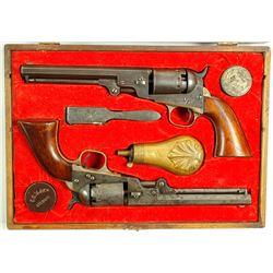 Cased Pair of .36 cal. Manhattan revolvers