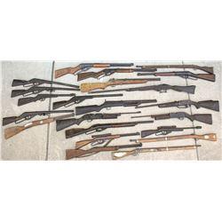 A Group of Toy Guns, Air Rifles, and BB Guns