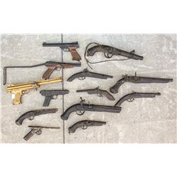 Group of Toy Pistols
