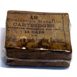 . 50 caliber Poultney's metallic cartridges
