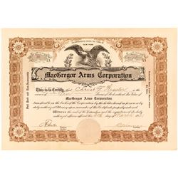 Mac Gregor Arms Corporation Stock Certificate